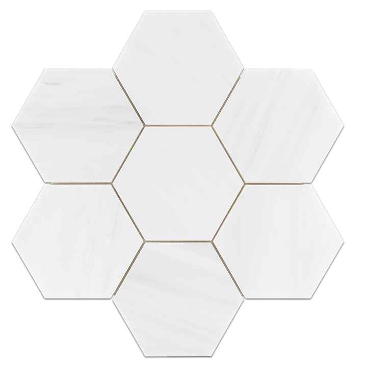 "Dolomite 5"" Hexagon Mosaic Honed (0.99 sf) - Elon Tile"