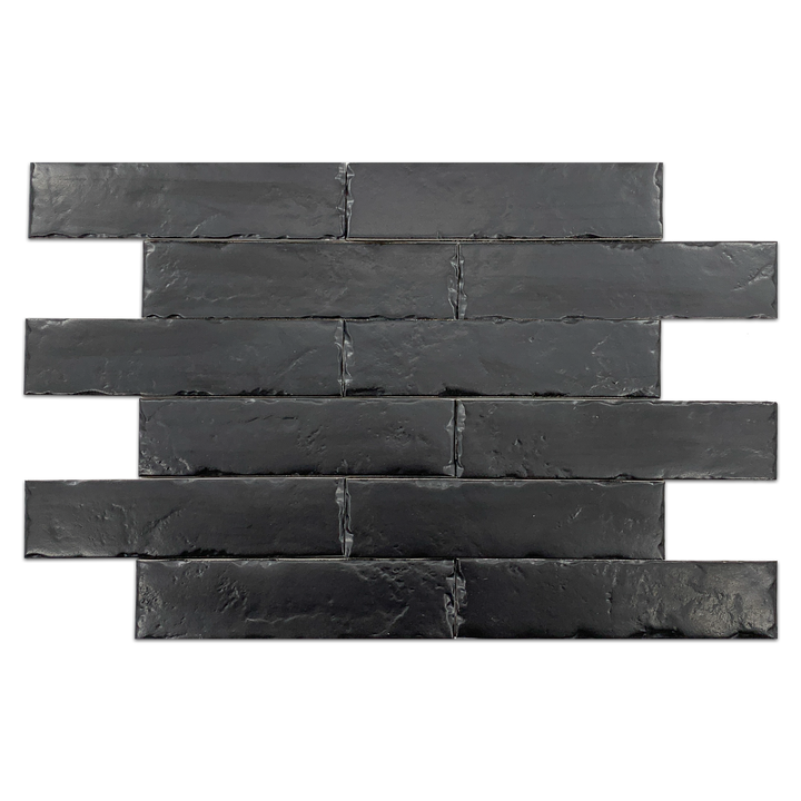 "Night Boston Brick 2.5"" x 10"" - Elon Tile"