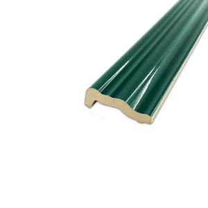"Hampton Green 2"" x 12"" Chair Rail Molding Glossy - Elon Tile"