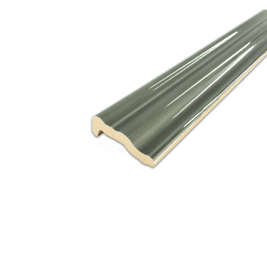 "Hampton Taupe 2"" x 12"" Chair Rail Molding Glossy - Elon Tile"