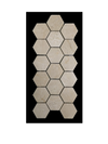 "C122 - 2"" Hexagon Crema Marfil Polished - Elon Tile"