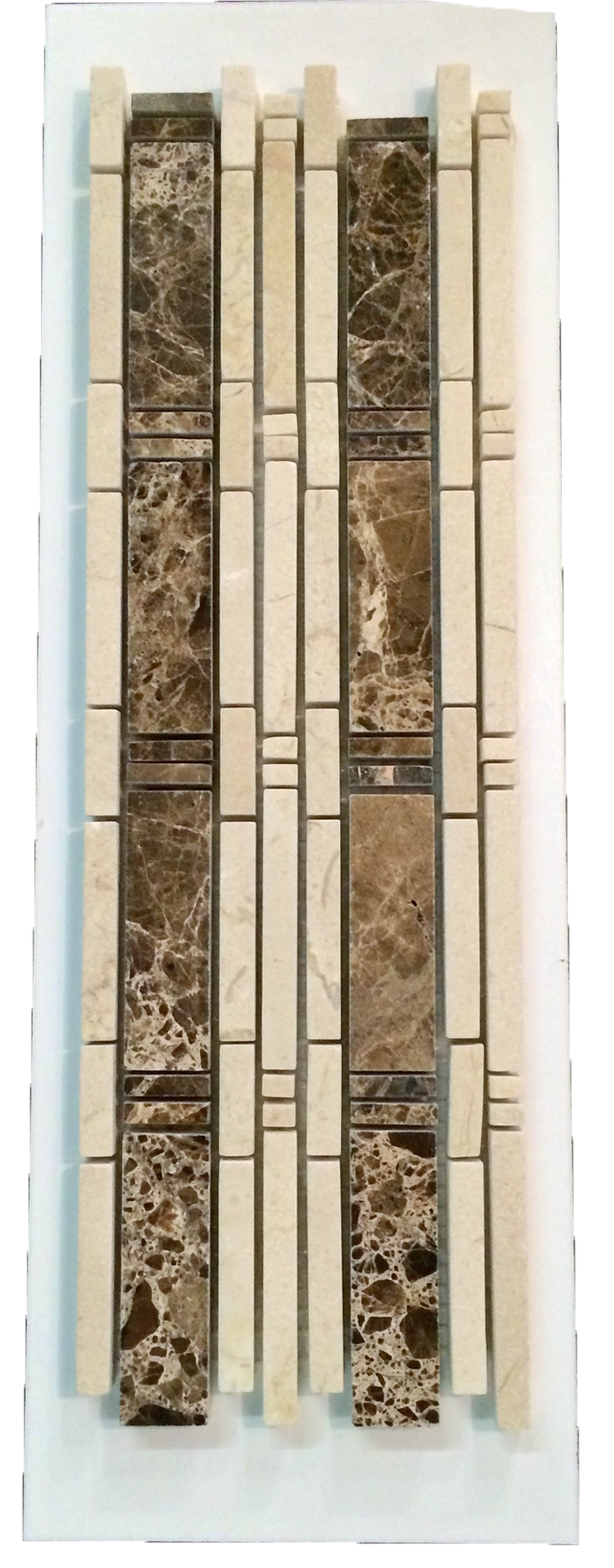 C23 - Bamboo Dark Emperador with Crema Marfil Polished - Elon Tile