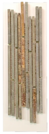 C49 - Mini Random Strip Rustic Multicolor Cleft Slate