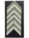 C92 - Chevron White Thassos with Ming Green Polished