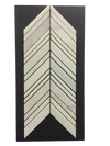 C95 - Chevron Pearl White Polished - Elon Tile