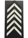 C96 - Chevron White Thassos with Black Polished
