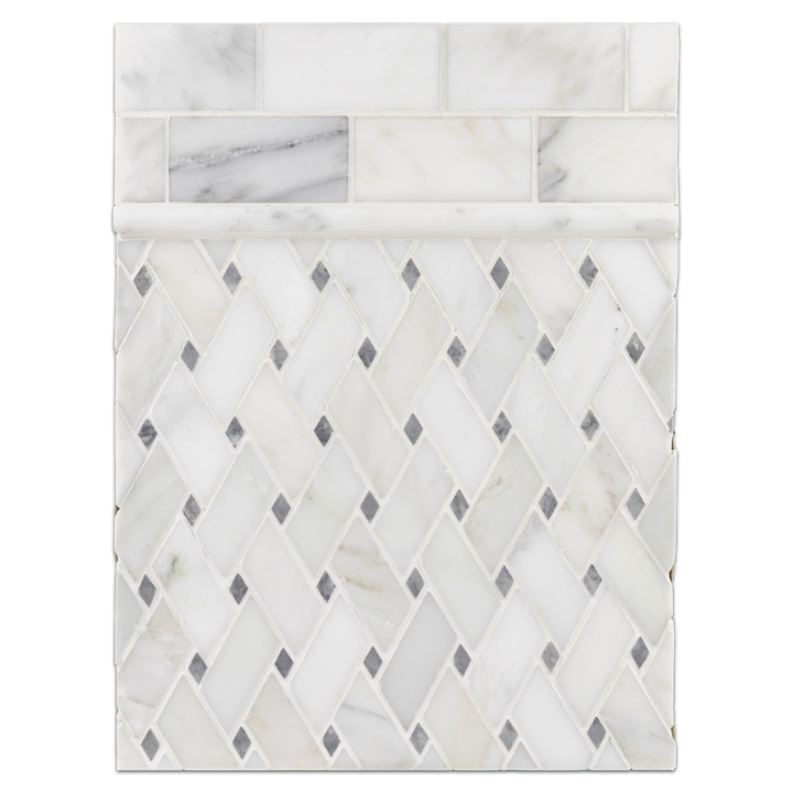 "Concept Board Collection - CB1129 - Pearl White 2"" x 4"" with Modern Weave - Elon Tile"