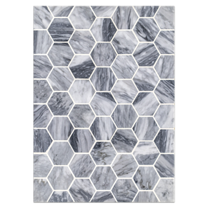 "Mosaic Board Collection - CP554 - Bardiglio 2"" Hexagon Mosaic Honed"