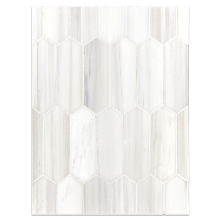 "Mosaic Board Collection - CP652 - Dolomite 2"" x 6"" Picket Mosaic Honed"