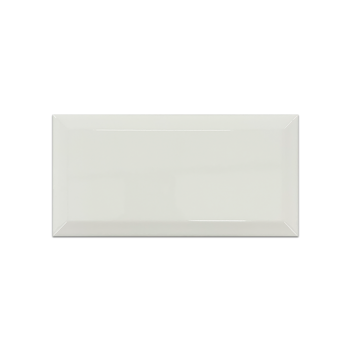 "Piccadilly White 4"" x 8"" Beveled Glossy Ceramic - Elon Tile"