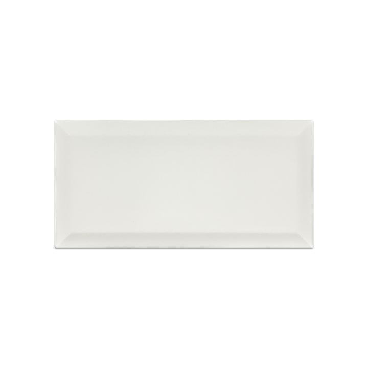 "Piccadilly White 4"" x 8"" Beveled Matte Ceramic - Elon Tile"