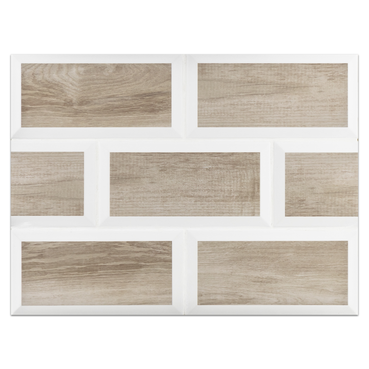 "Metropolitan Board Collection - CSB103 - Metropolitan Tensta 2 Tone 4"" x 8"" Beveled Ceramic Board"