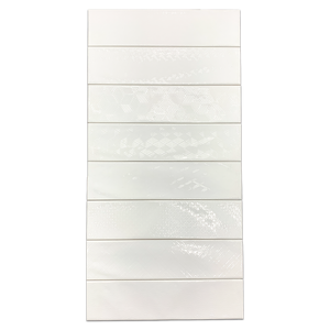 "Opal Snow 3"" x 12"" Assorted Decos - Elon Tile"