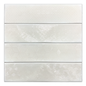 "Opal Ivory 3"" x 12"" Assorted Decos - Elon Tile"