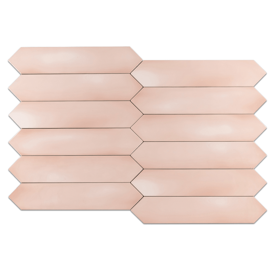 "Optics Pink 2.6"" x 13"" Picket Glossy - Elon Tile"