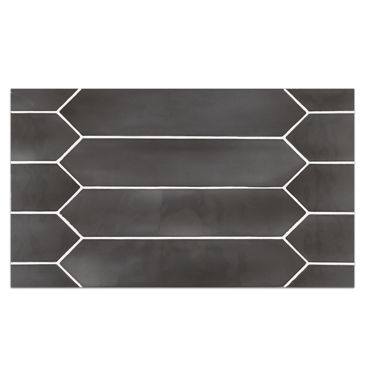 "Optics Board Collection - CTB260 - Optics Anthracite 2.6"" x 13"" Picket Glossy Board - Elon Tile"