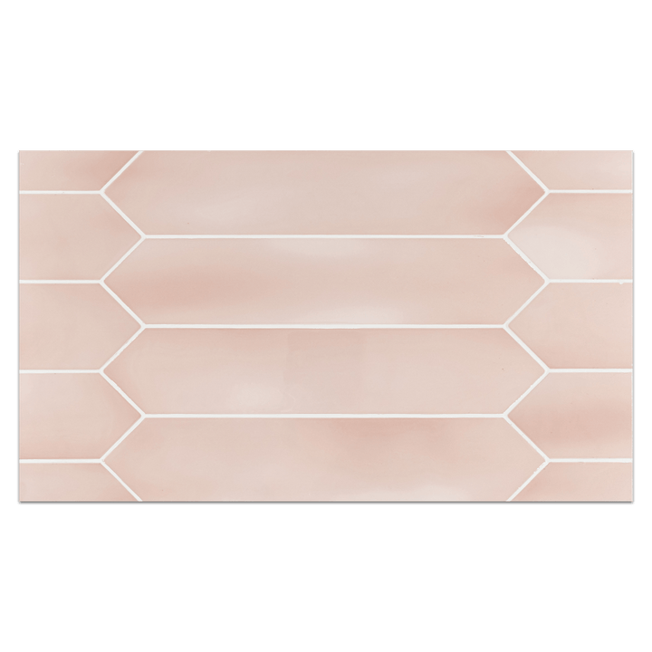 "Optics Board Collection - CTB270 - Optics Pink 2.6"" x 13"" Picket Glossy Board - Elon Tile"