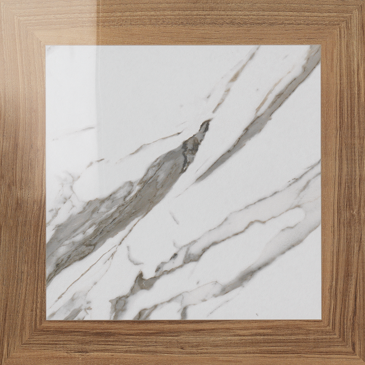 "Calacatta Square Porcelain 19"" x 19"" Semi Polished - Elon Tile"