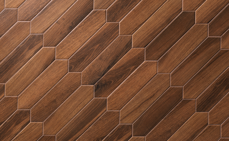 "Classic Walnut Traces Pickets 3"" x 12"" Matte (Packed @ 22) - Elon Tile"
