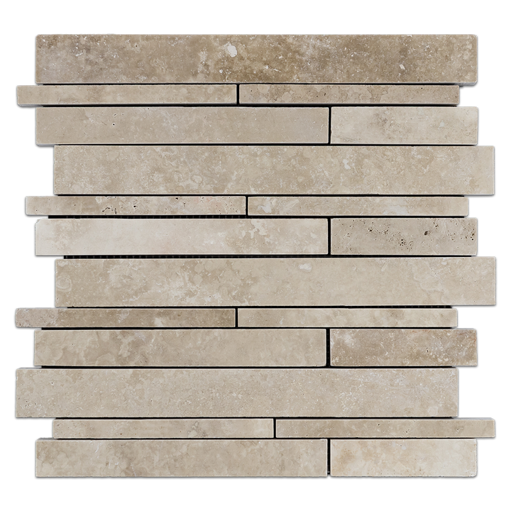 Durango Multi Width Mosaic Honed & Filled (1 sf) - Elon Tile