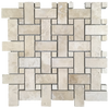 Durango Limestone Basketweave with Same Dot Mosaic
