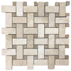 Durango Basketweave with Noce Dot Mosaic Honed & Filled (1 sf)