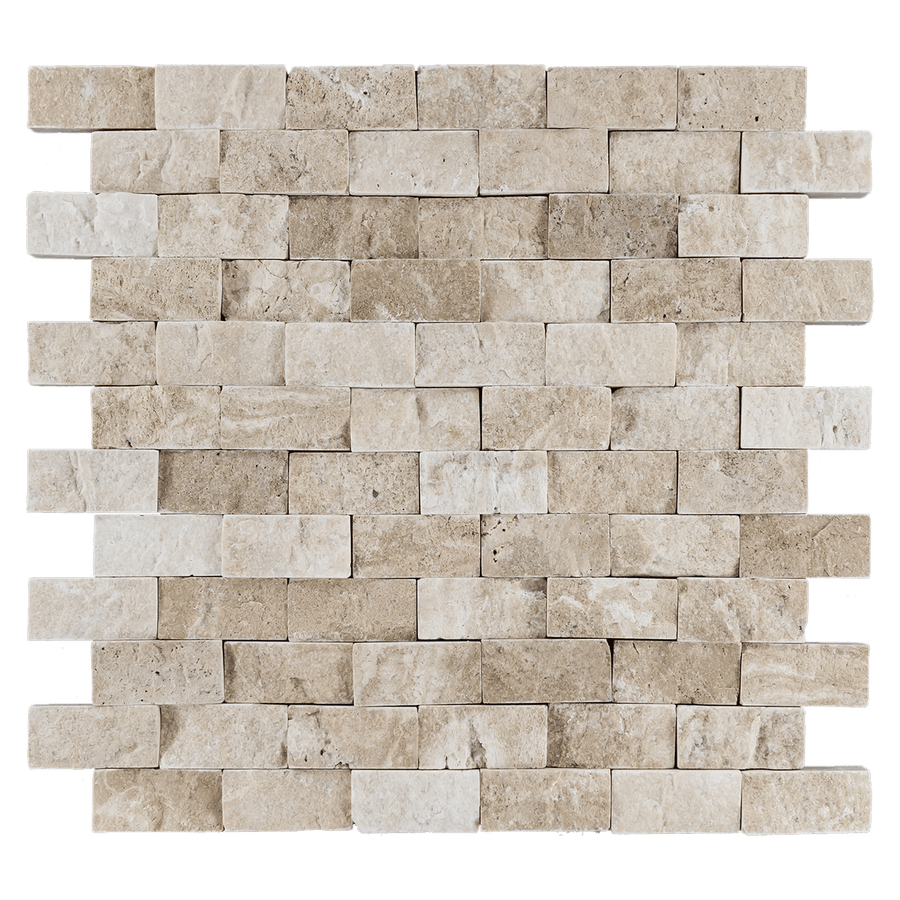 Durango Split Face Mosaic Tumbled (1 sf) - Elon Tile