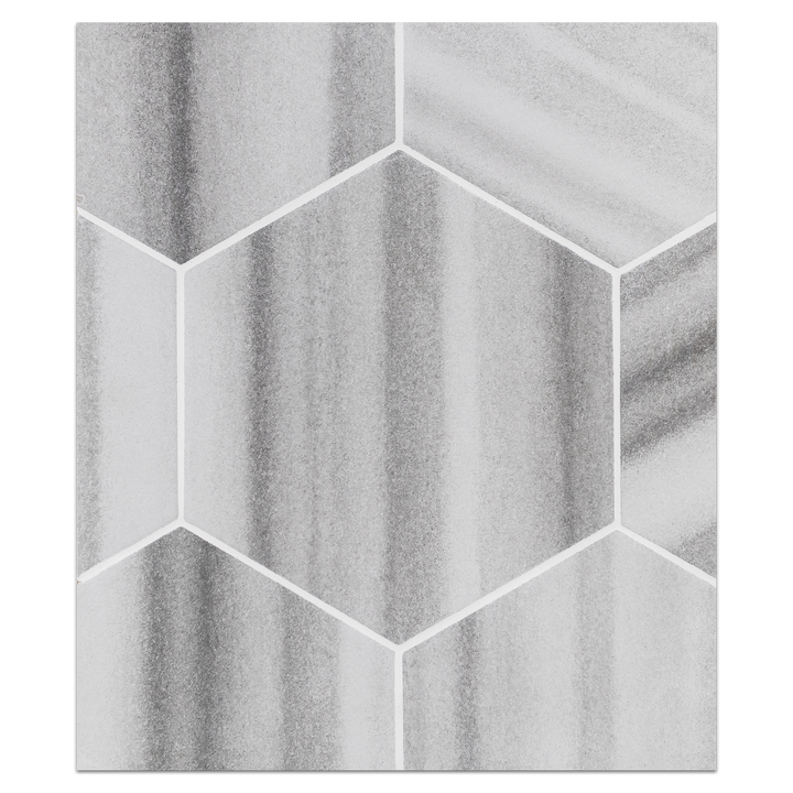 "Hexagon Porcelain Board Collection - HPB100 - Roma Grey 8"" Hexagon Board - Elon Tile"