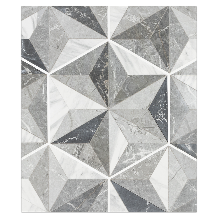 "Hexagon Porcelain Board Collection - HPB103 - Iris Grey 8"" Hexagon Board - Elon Tile"
