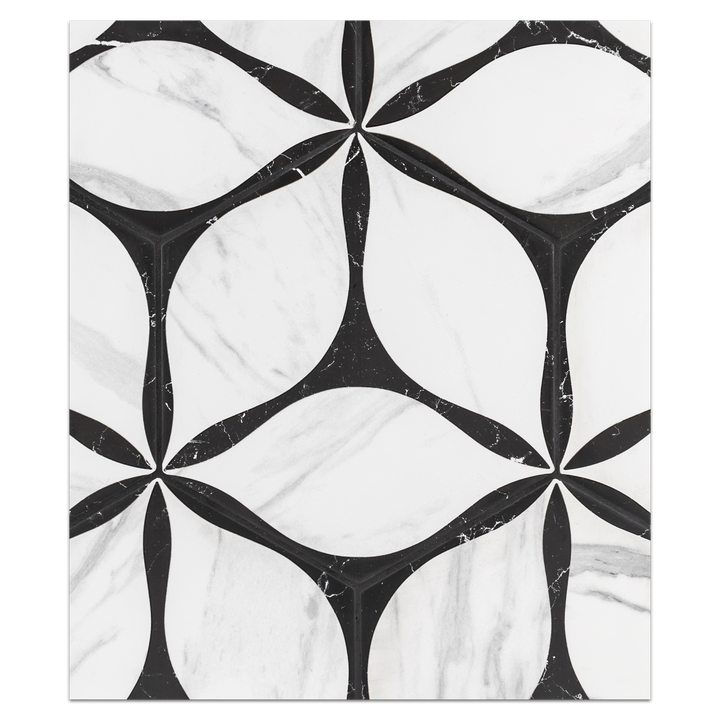 "Hexagon Porcelain Board Collection - HPB105 - Corola Black 8"" Hexagon Board - Elon Tile"