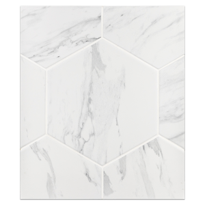 "Hexagon Porcelain Board Collection - HPB107 - Neo White 8"" Hexagon Board"