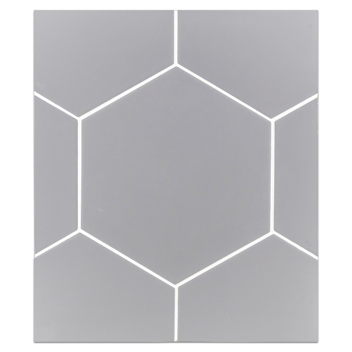 "Hexagon Porcelain Board Collection - HPB108 - Versalles Grey 8"" Hexagon Board - Elon Tile"