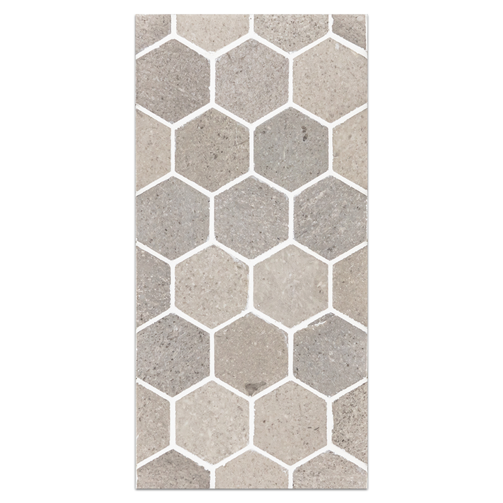 "Mini Board Collection - MB149 - Sand Dollar 2"" Hexagon Mosaic Polished"