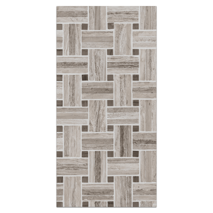 Mini Board Collection - MB214 - Triweave Beachwood/Driftwood Mosaic Honed - Elon Tile