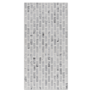 Mini Board Collection - MB221 - Bianco Carrara Micro Brick Mosaic Honed Board - Elon Tile