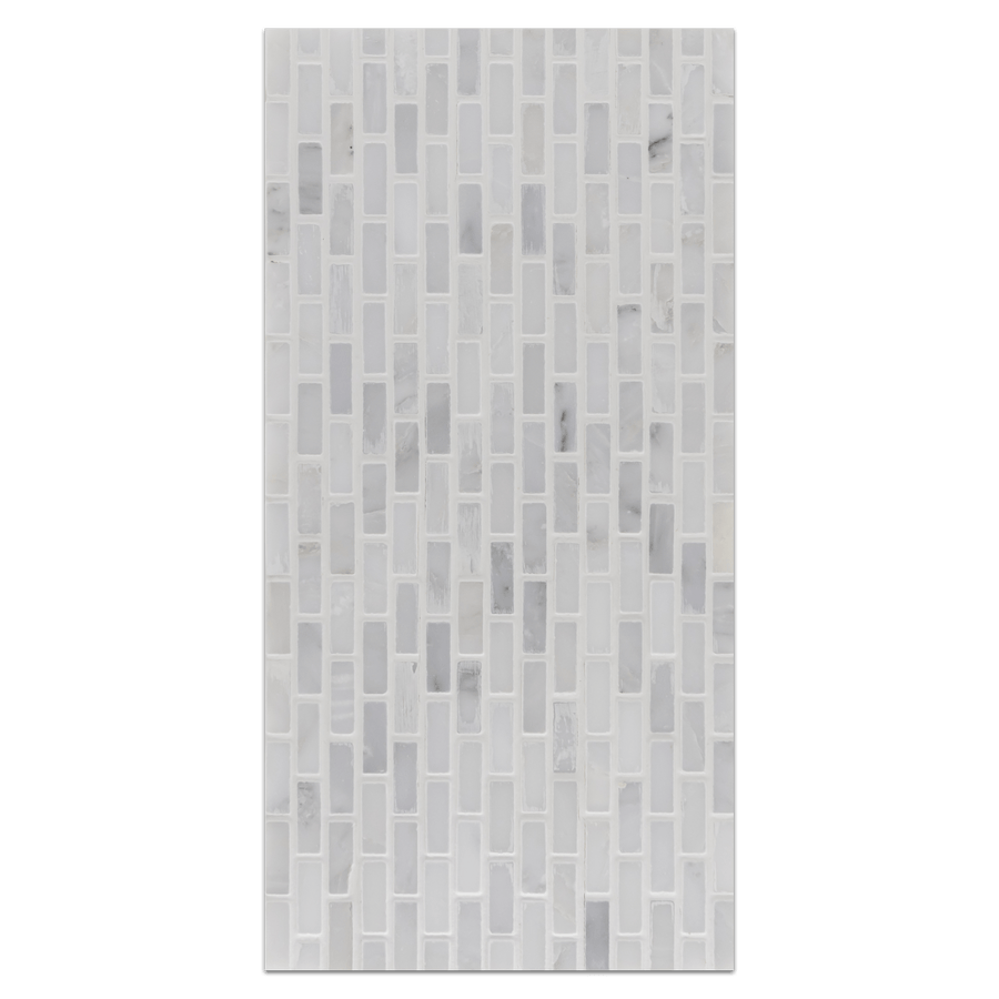Mini Board Collection - MB225 - Pearl White Micro Brick Mosaic Honed Board - Elon Tile