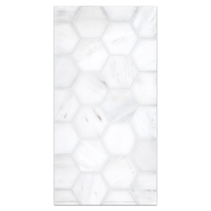 "Mini Board Collection - MB287 - Dolomite 2"" Hexagon Mosaic Honed Board"