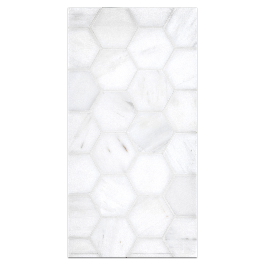 "Mini Board Collection - MB287 - Dolomite 2"" Hexagon Mosaic Honed Board - Elon Tile"