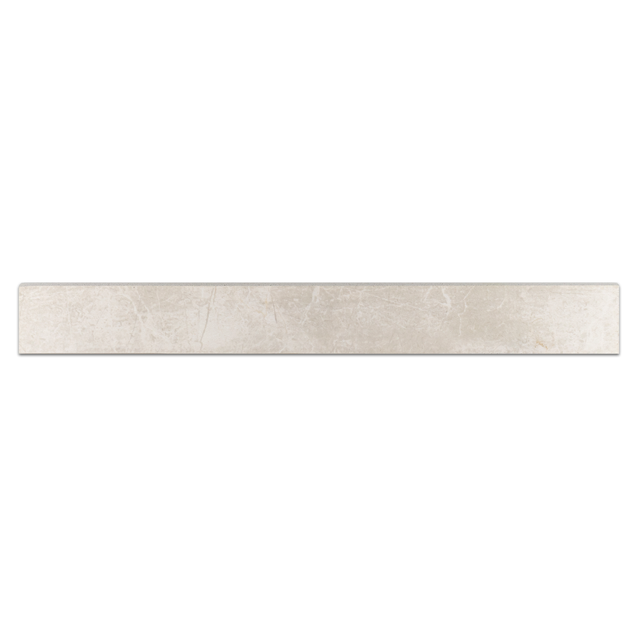 "Nuance White Shell 3"" x 24"" Bullnose Semi Polished - Elon Tile"