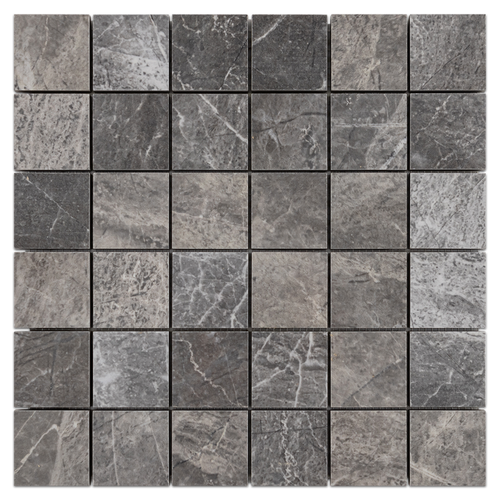 "Nuance Anthractite 2"" x 2"" Semi Polished (0.94 sf) @12 - Elon Tile"