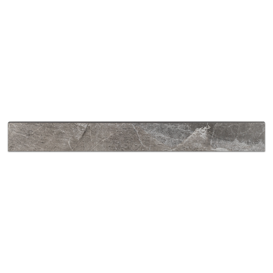 "Nuance Anthracite 3"" x 24"" Bullnose Semi Polished - Elon Tile"