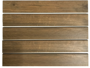 "**LIMITED STOCK** Wood Porcelain Base Molding 3"" x 19"" Matte - Elon Tile"