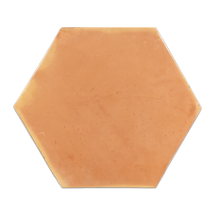 "Saltillo Terra Cota 12"" Hexagon Clear Semi Gloss - Elon Tile"