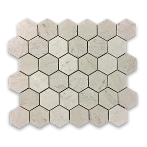 "**LIMITED STOCK** Vague de Fleurs 2"" Hexagon Mosaic Honed - Elon Tile"