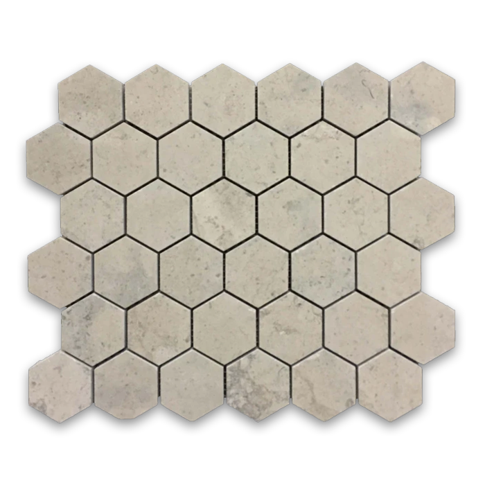 "**LIMITED STOCK** Ville Sur Mer 2"" Hexagon Mosaic Honed - Elon Tile"