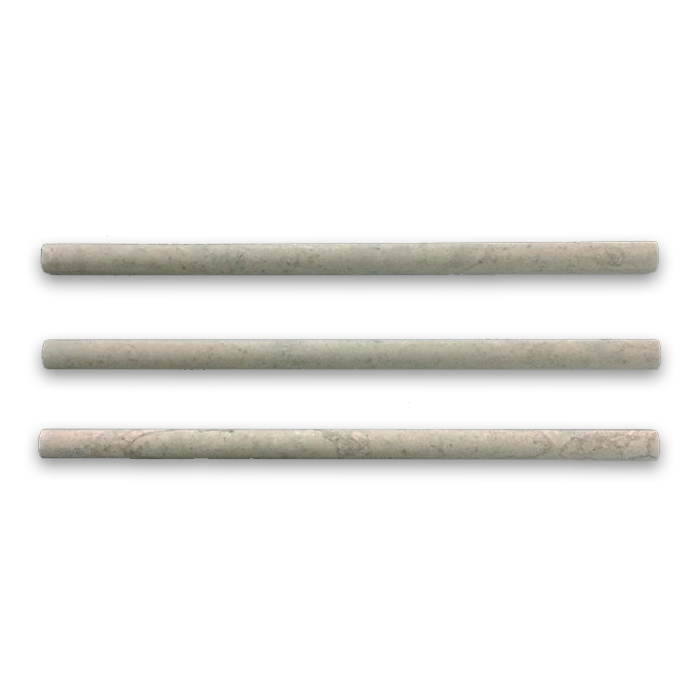 "**LIMITED STOCK** Ville Sur Mer European Limestone 5/8"" x 3/4"" x 12"" Pencil Molding Honed - Elon Tile"