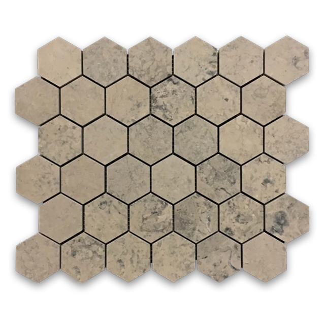 "**LIMITED STOCK** Quartier Parisien 2"" Hexagon Mosaic Honed - Elon Tile"