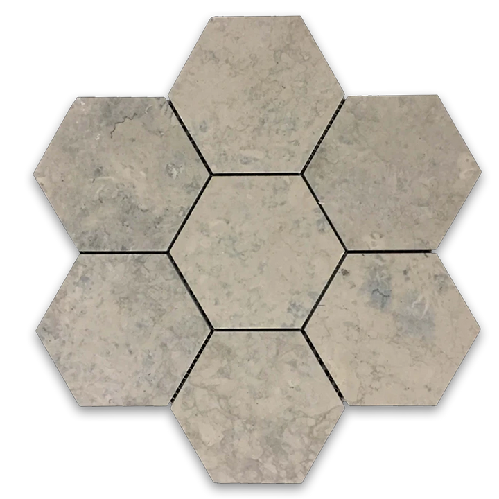 "**LIMITED STOCK** Quartier Parisian 5"" Hexagon Mosaic Honed (1 sf) - Elon Tile"
