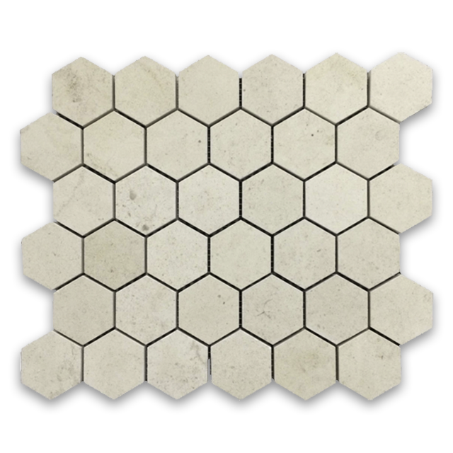 "**LIMITED STOCK** Chateau De Sable 2"" Hexagon Mosaic Honed - Elon Tile"