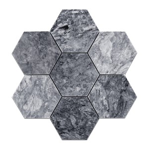 "Pacific Gray 5"" Hexagon Mosaic Honed - Elon Tile"